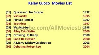 Kaley Cuoco Movies List