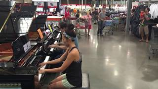 "COSTCO PIANO GIRL & PIANO SALESMAN: IMPROV ""Someone Like You"" by Adele"