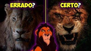 Por que o Scar não tem a juba Preta no novo Rei Leão?