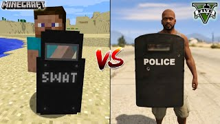 MINECRAFT RIOT SHIELD VS GTA 5 RIOT SHIELD - WHICH IS BEST?