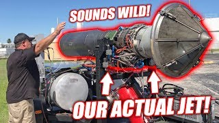 Test Firing Project Mullet's ACTUAL Jet Engine! (Spooling Up to 90% Throttle)