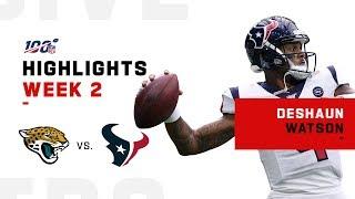 Deshaun Watson Highlights vs. Jaguars | NFL 2019