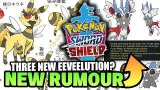 NEW Pokemon Sword & Shield RUMOUR!? Three New EEVEELUTIONS, Only 65+ Pokemon & More!?