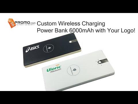 Custom Wireless Charging Power Bank 6000mAh with Logo