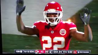 Raider vs Chiefs Thursday night Football October 19th 2017 Game