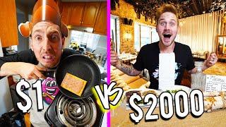 $1 VS $2,000 RESTAURANTS! *BUDGET CHALLENGE*