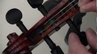 restringing a violin