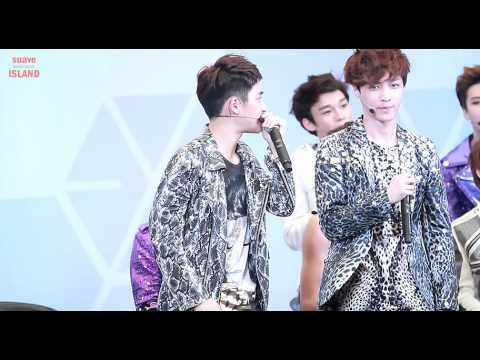 120728 D.O & Lay (beatbox) + Chanyeol (rap) focus @ mini live in Thailand