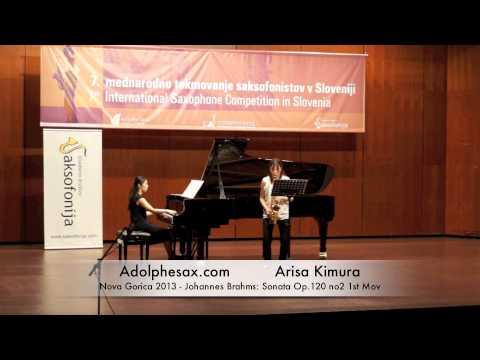 Arisa Kimura - Nova Gorica 2013 - Johannes Brahms: Sonata Op 120 no2 1st Mov