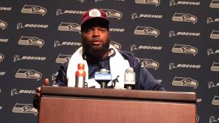 Michael Bennett on what Aaron Rodgers says when he gets hit