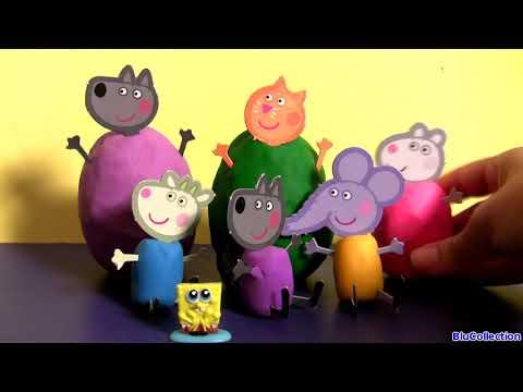 clay buddies peppa pig surprise eggs amp blind bags nickelodeon huevos