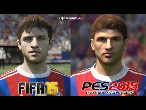 FIFA 15 vs PES 2015 BAYERN MUNICH Face Comparison (Muller, Gotze, Robben)