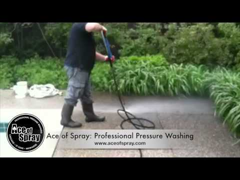 Residential Patio Cleaning in Chicago by Ace of Spray
