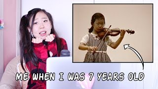 REACTING TO MY OLD (CRINGEY) VIOLIN VIDEOS | Esther Hwang