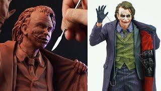 Sculpting The JOKER | The Dark Knight - Timelapse