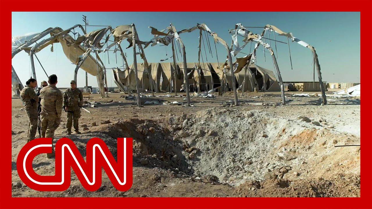 Американская база в Ираке после удара иранскими ракетами
