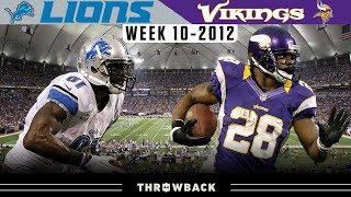 Calvin Johnson & Adrian Peterson DUEL! (Lions vs. Vikings 2012, Week 10)