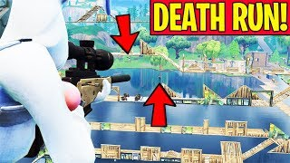 IMPOSSIBLE SNIPER DEATH RUN!! (*NEW* GAME MODE IN PLAYGROUNDS FORTNITE BATTLE ROYALE)