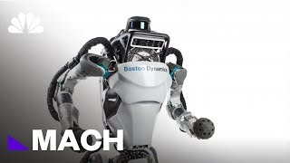 Boston Dynamic's Atlas Robot Goes Jogging | Mach | NBC News