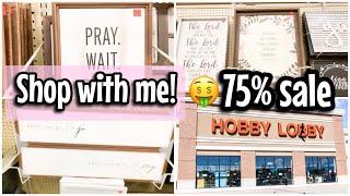 HOBBY LOBBY 75% CLEARANCE SALE || FARMHOUSE FINDS 2019 || let's go shopping 🛒