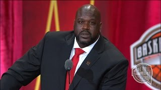 Shaquille O'Neal's Basketball Hall of Fame Enshrinement Speech