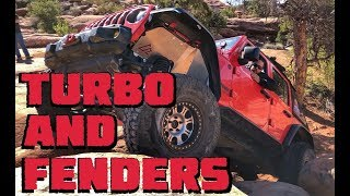 Rock Crawling the New TURBO 3.6L Jeep Wrangler JLUR! Also, New FENDER LIGHTS!