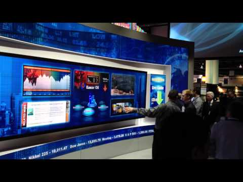 Christie MicroTiles display at NAB 2012