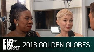 "Michelle Williams Talks ""#MeToo"" at 2018 Golden Globes 