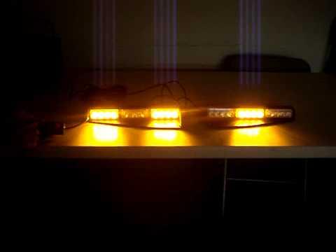 VOLTEX TRI SPLIT 1W DASH AMBER GEN III LED LIGHTBAR