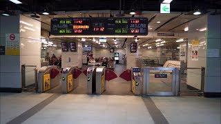Taiwan, Taipei Main MRT station, 1X escalator - going down to platform level