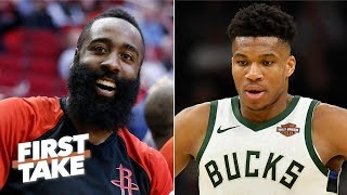 James Harden should be the unanimous MVP over Giannis Antetokounmpo - Ryan Hollins | First Take