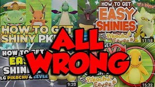 EVERYONE IS WRONG ABOUT SHINY POKEMON HUNTING! The BEST Pokemon Let's Go Shiny Hunting Guide