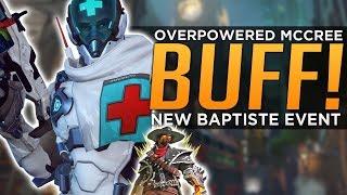 Overwatch: Overpowered McCree BUFF! - NEW Baptiste Event SKIN!