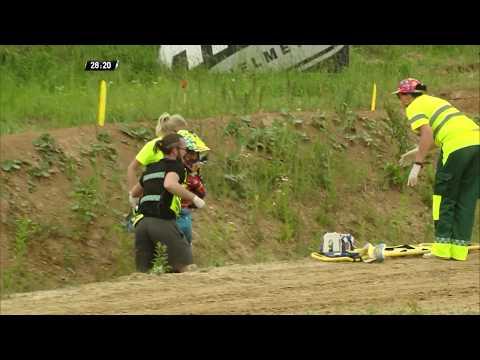 Antonio Cairoli crash - MXGP Race 2 - MXGP of Latvia 2019