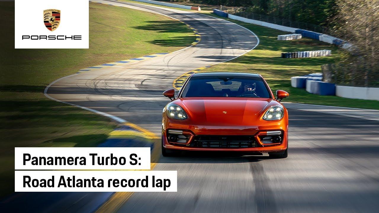 Lap highlights of Panamera Turbo S track record at Road Atlanta