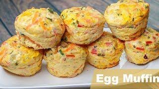 Easy Egg Muffin | Vegetable Omelette Muffin Recipe | Easy Breakfast Recipe | Snacks Recipe | Toasted