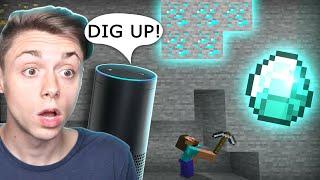 ALEXA finds DIAMONDS for ME! (Minecraft)