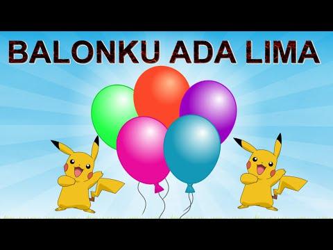 Lagu Balonku Ada Lima   Balonku   Menghitung Balon