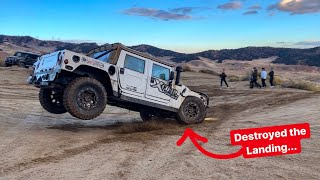 HUMMER H1 DESTROYS THE  LAMBORGHINI, BENTLEY, & G 4x4 OFF ROADING!