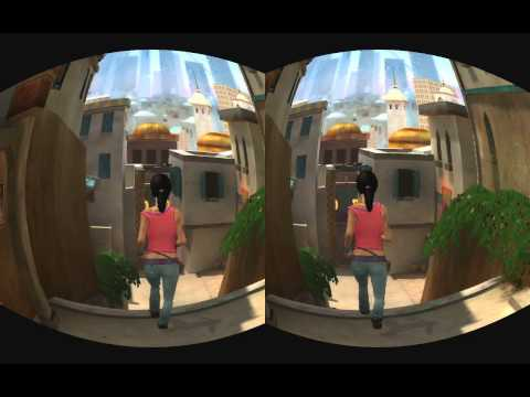 Nvidia does Dreamfall in 3D - realtime rifted for Oculus Rift @ Blackmagic Intensity Pro