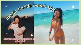 DESTIN FLORIDA BEACH ROAD TRIP | shopping, the track, photos, summer stuff
