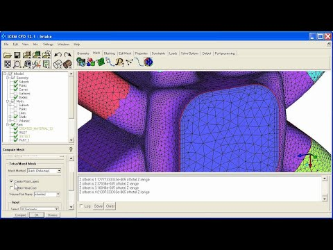 ANSYS 12.1 (part 2 of 2) ICEM CFD Tetra/Prism meshing of a simple manifold