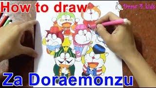 ♥How to draw the Doraemons - Za Doraemonzu   D4K