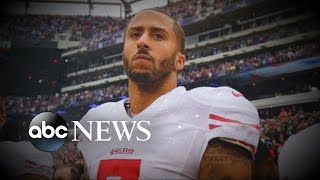 Colin Kaepernick Refuses to Stand for National Anthem