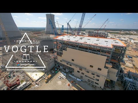 A bird's-eye view of Vogtle Units 3 and 4, currently under construction near Waynesboro, Georgia.