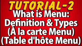 What is Menu: Definition & Types (Tutorial 2)