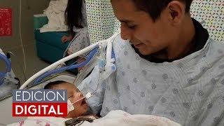 Imagen emotiva: bebé de Marlen Ochoa abre por primera vez sus ojos en brazos de su padre