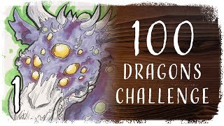 100 Dragons Challenge - 1   Radioactive Zombie Dragon