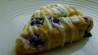 Gluten Free Blueberry Scones with Lemon Glaze