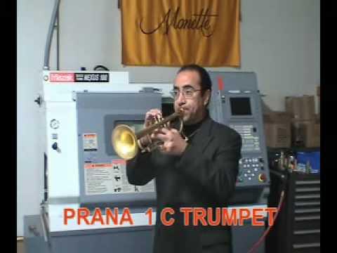 Manny demonstrating 5 Monette PRANA horns